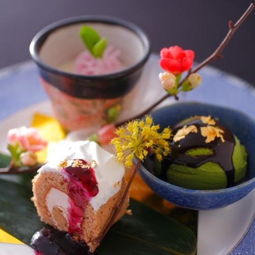 記念日だからこそデザートも豪華に!当館の【和スイーツ】は四季によって様々な姿へと変わります!