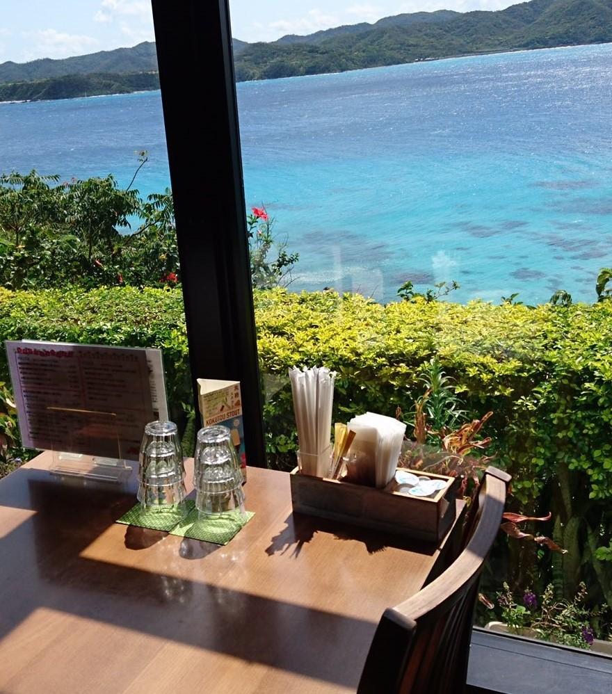 レストラン 窓側席からの眺め