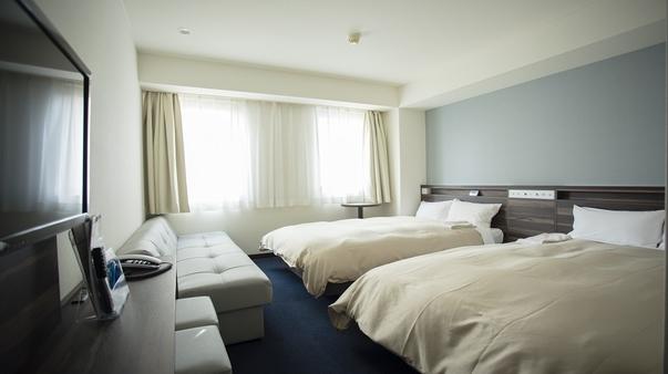 【禁煙】ツインルーム◎ベッド幅120cm×2台