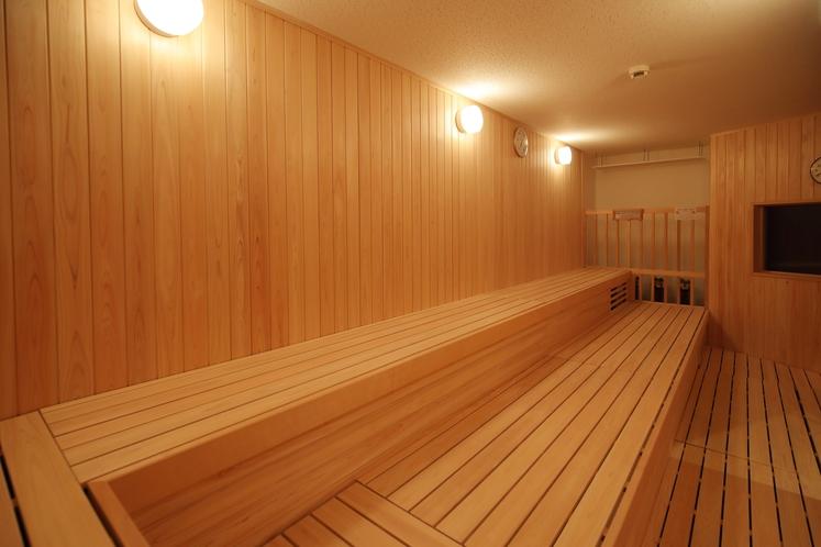 男性専用大浴場「サウナ亀の家」 アチアチ系ドライサウナ ゆったりスペース