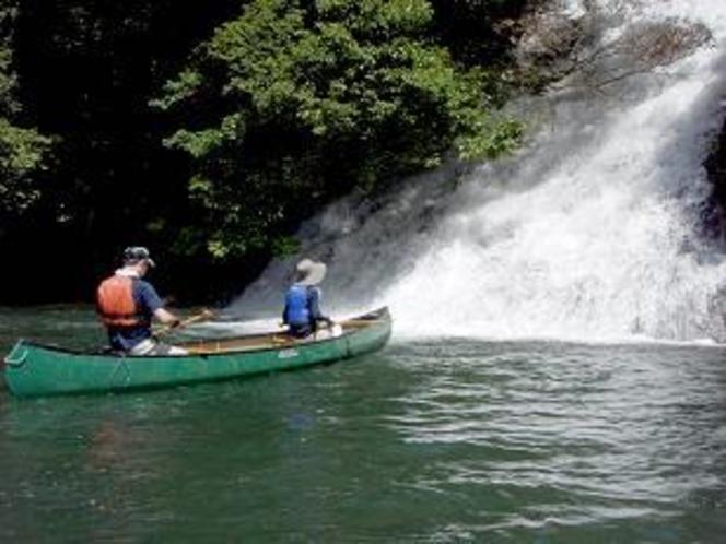 「蘇陽峡」でのカヌー体験
