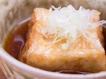 朝食の逸品「揚げ出し豆腐」