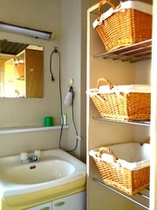 小浴場の脱衣所