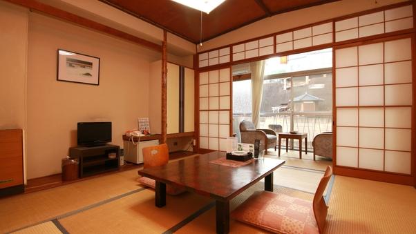 【おまかせ部屋】摺上川と温泉郷を望む純和室 Wi-Fi完備