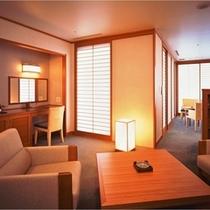 32階ロイヤルスイートルーム「暁雲」リビングルーム