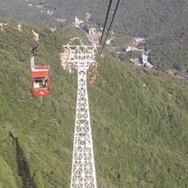 【御在所岳ロープウェー】標高1212mの山頂まで結びます
