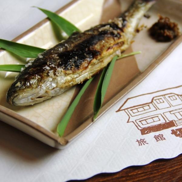 料理-白馬の豚鍋 _焼き魚