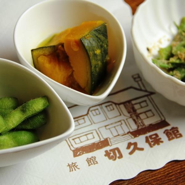 料理-白馬の豚鍋 _前菜3品