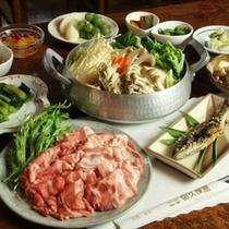料理-白馬の豚鍋 _全体