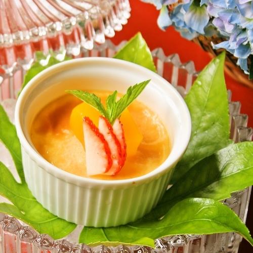 【夕食】特製焼きプリン