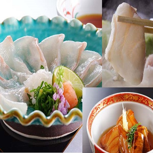 【夕食】薄造り+煮付け+小鍋