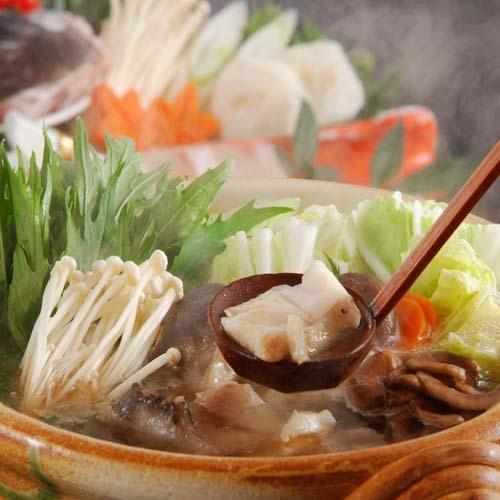 【夕食】クエ大鍋