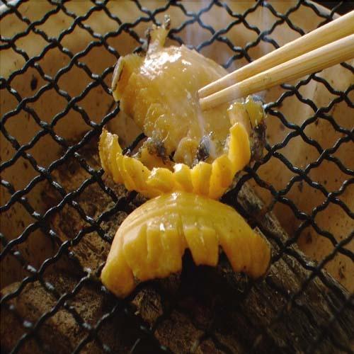 【夕食】鮑炭火焼
