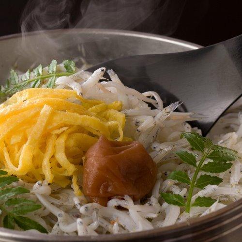 【夕食】釜飯