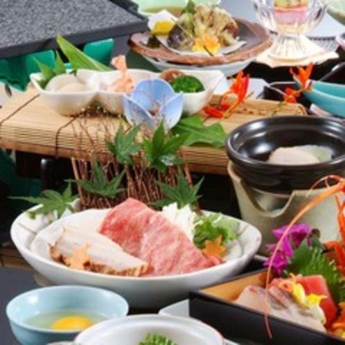 【夕食】伊勢海老姿造り付会席(一例)