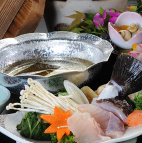 【夕食】クエ小鍋