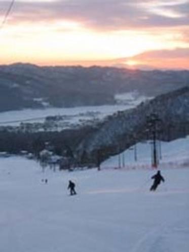 スキー場朝日