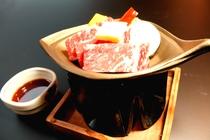 「和牛」使用の陶板焼き