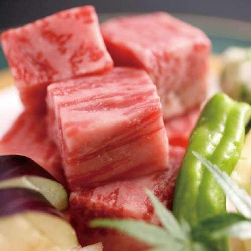 黒毛和牛サイコロステーキ(一例)