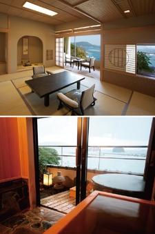 露天風呂付客室 新館 季和海(ときなごみ)和室12畳+6畳