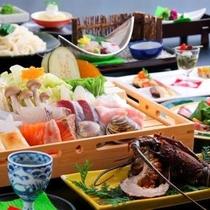 冬季限定 「海鮮鍋」会席コース一例