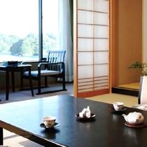 陶器露天風呂と桧内風呂付 新館 季和海(ときなごみ)和室12畳  (一例)