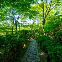 館内の庭園をぶらりと散歩するのも趣があります。