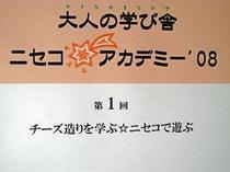 ニセコアカデミー'08メインサイン