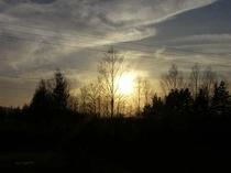ニセコの里の夕日