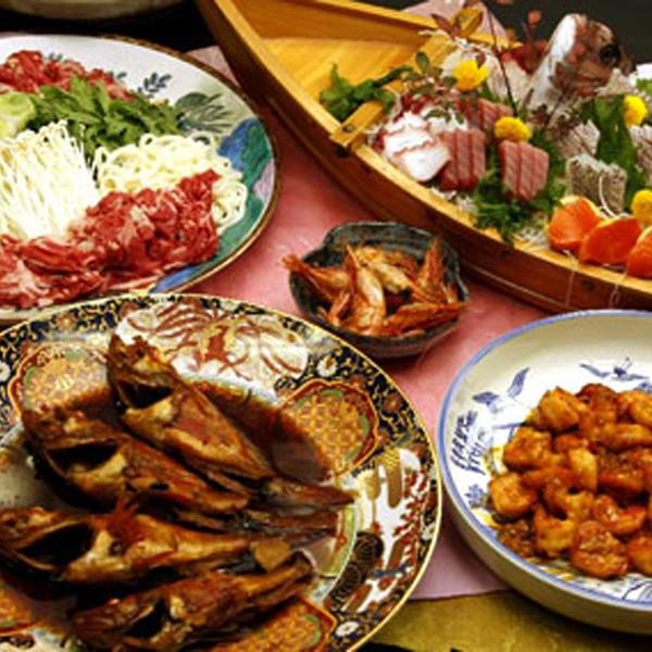 ◆夕食一例◆その日水揚げされた物の中か当館主人がプロの目線で厳選吟味し素材を決めます!