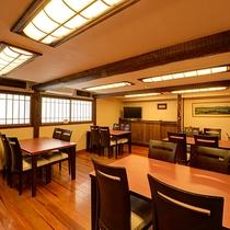 *【食堂】古民家風の食堂。会議室としても利用可能です。