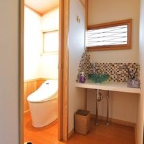 *【トイレ】 手洗い場もこだわりのデザインです。
