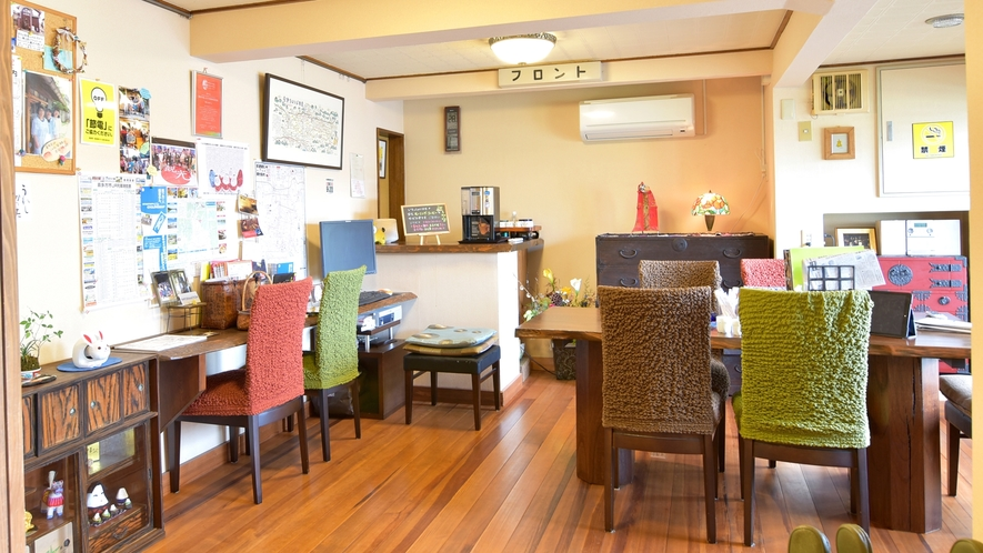 *【まほろばカフェ】 フロントはこちら!観光情報は女将さんからGETできます。