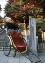 人力車と階段