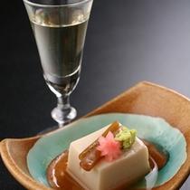 ごま豆腐と梅酒