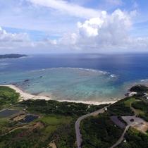 【あやまる岬公園】車で約10分!奄美十景にも数えられる観光地で珊瑚礁の海が一望できます。