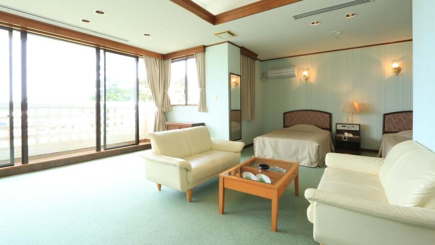 <デラックスツイン55平米>グループ様に最適な55m²のお部屋です