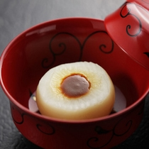 ふろふき蕪柚子味噌のせ