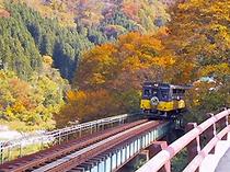 紅葉と会津鉄道(カスタマイズ用)