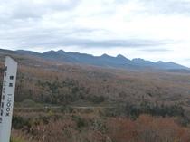 【秋】11月上旬 女の神展望台(1700M)からの紅葉です