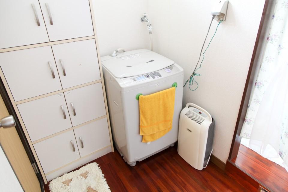 清潔な洗濯機と洗剤は利用無料