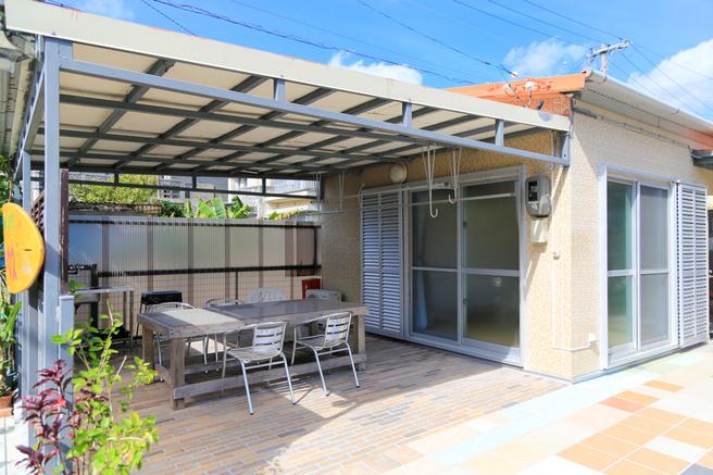 屋根付きくつろぎスペース ※バーベキューは禁止です
