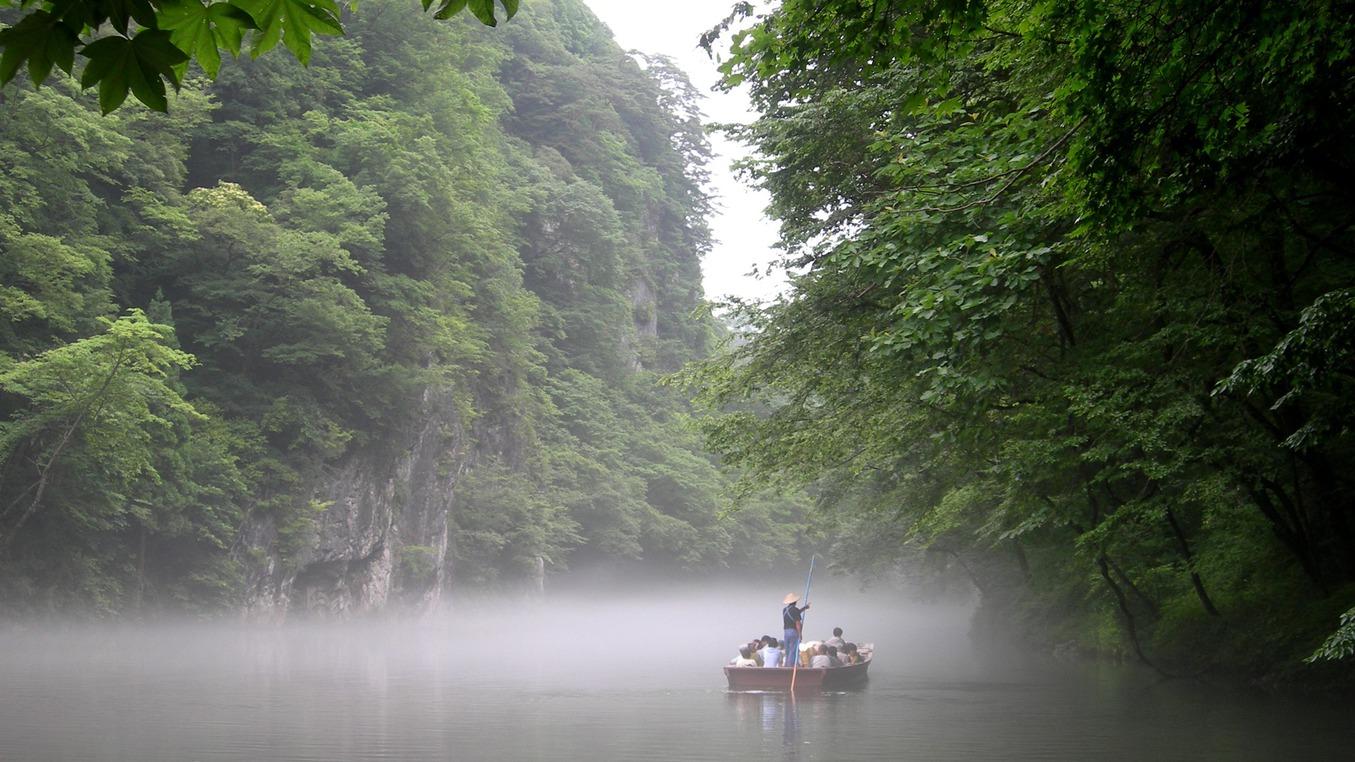 *【舟下り】夏/霧がたちこめる幻想的な空間。