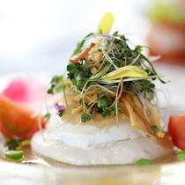 グレードアップ フレンチ紫陽花ディナー 前菜一例