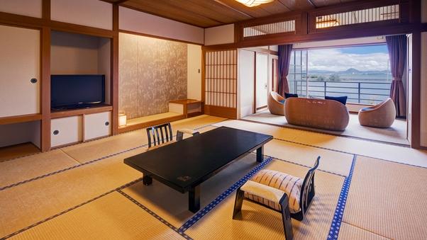 露天風呂付客室「萬葉」(15畳+6畳)2022年3月から禁煙