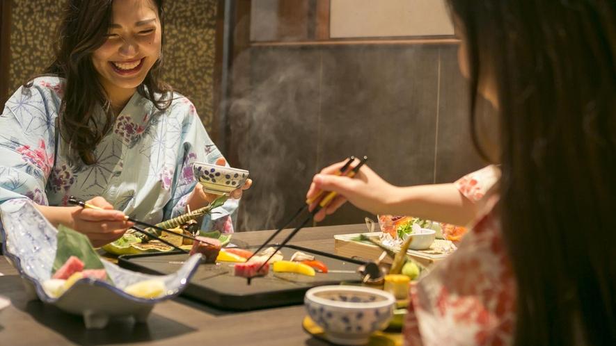 近江牛ステーキの食事イメージ