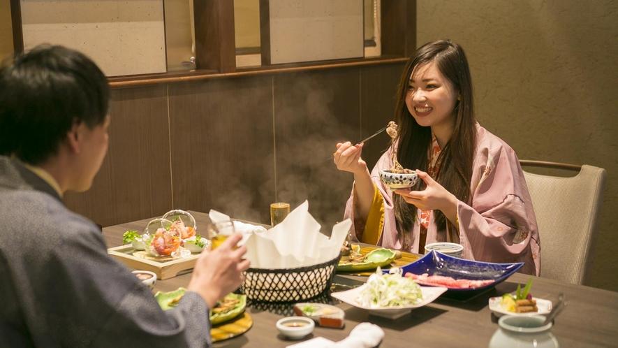 近江牛のしゃぶしゃぶ食事イメージ