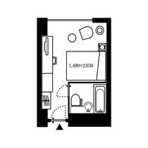 シングルルーム 17.8㎡ 間取り図 一例