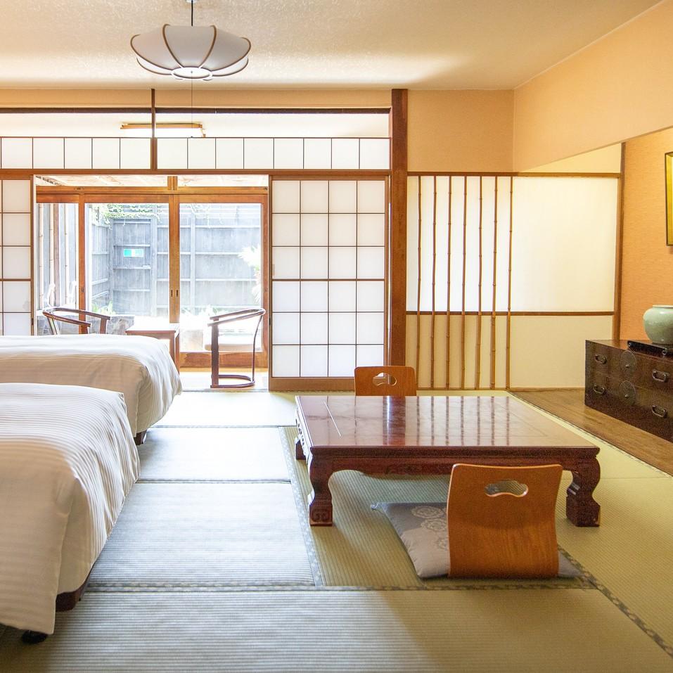 【お部屋】露天風呂付/和室(ツインベッド)110号室