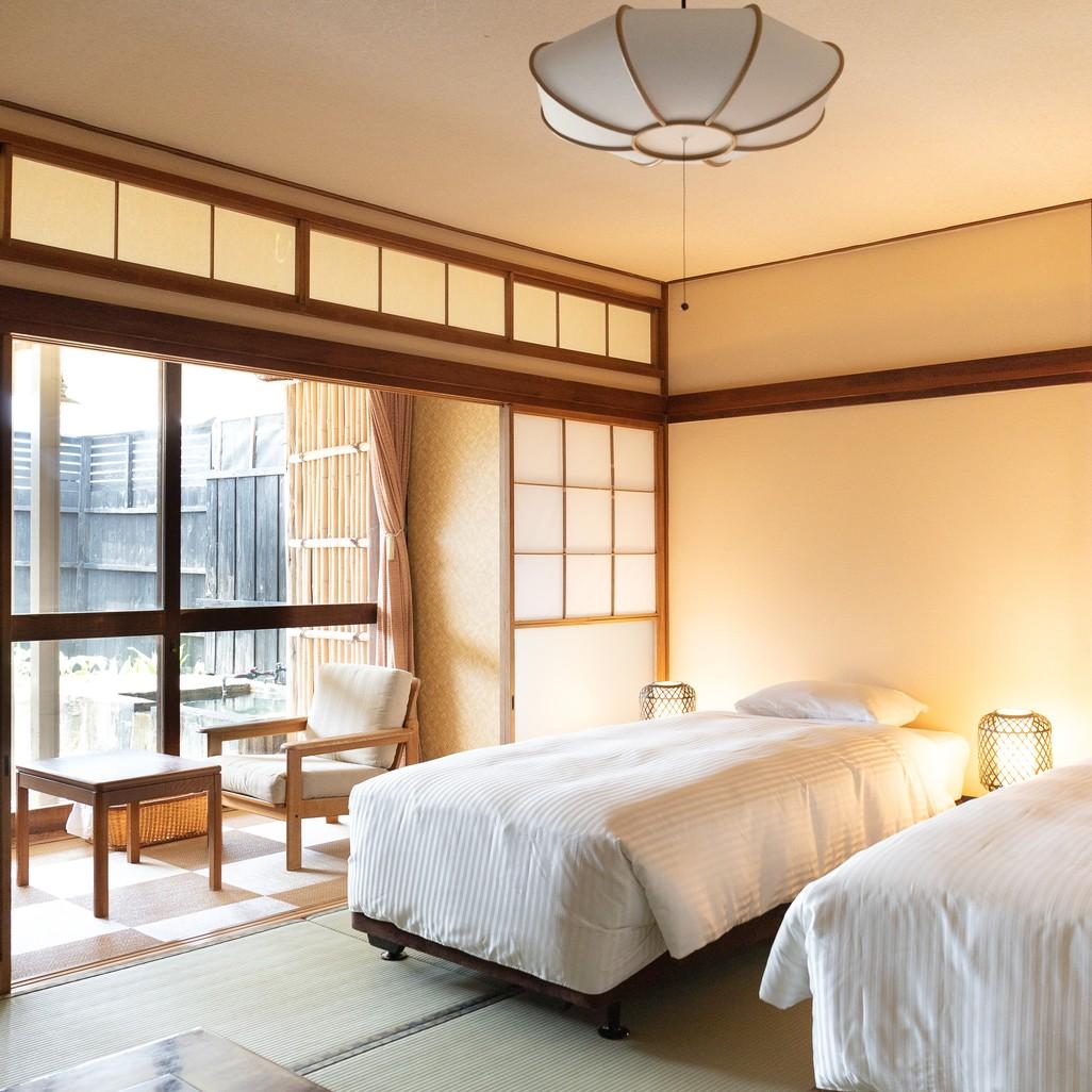 【お部屋】準特別室のツインベッド
